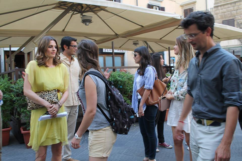 Alessandra Mastronardi, Stana Katic, Emily Atack e Marco Bonini sul set