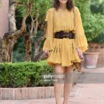 alessandra-mastronardi-is-seen-wearing-alberta-ferretti-dress-bag-picture-id841545816