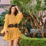 alessandra-mastronardi-is-seen-wearing-alberta-ferretti-dress-bag-picture-id841545858