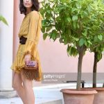 alessandra-mastronardi-is-seen-wearing-alberta-ferretti-dress-bag-picture-id841545896