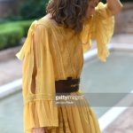 alessandra-mastronardi-is-seen-wearing-alberta-ferretti-dress-bag-picture-id841545954